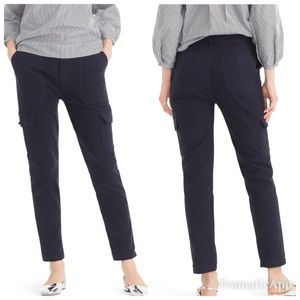 J. Crew The Straight High Rise Cargo Pants Navy 27